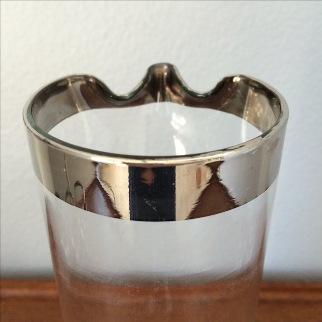Mid-Century Silver Cocktail Pitcher & Five Glasses - Image 6 of 9