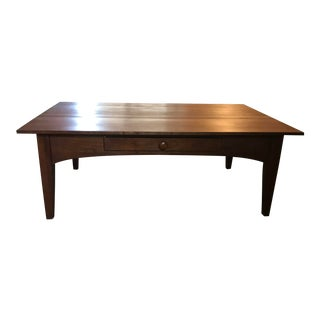 Ethan Allen Mid-Century Modern Walnut Coffee Table For Sale