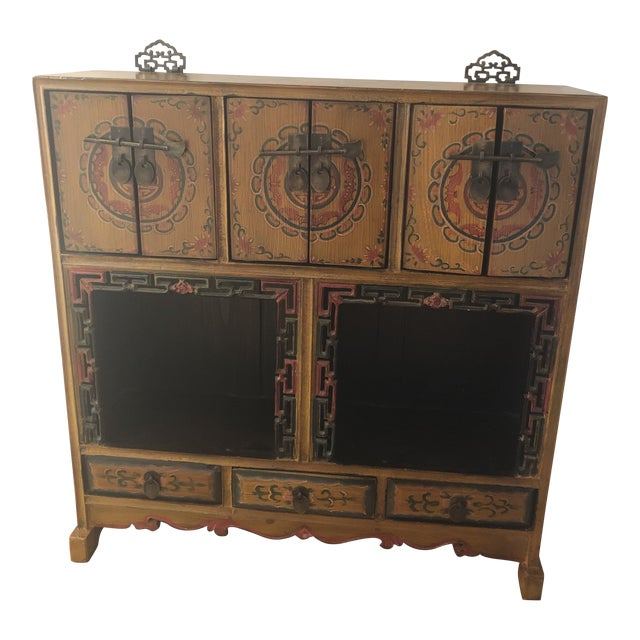 19th Century Antique Wood Cabinet For Sale