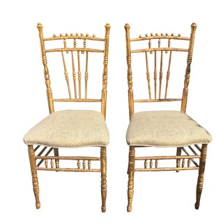 Pair of Antique Regency Style Ballroom Chairs For Sale