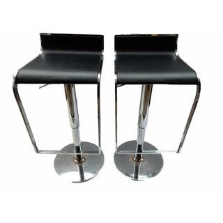 Chrome Swivel Counter Stools - A Pair For Sale