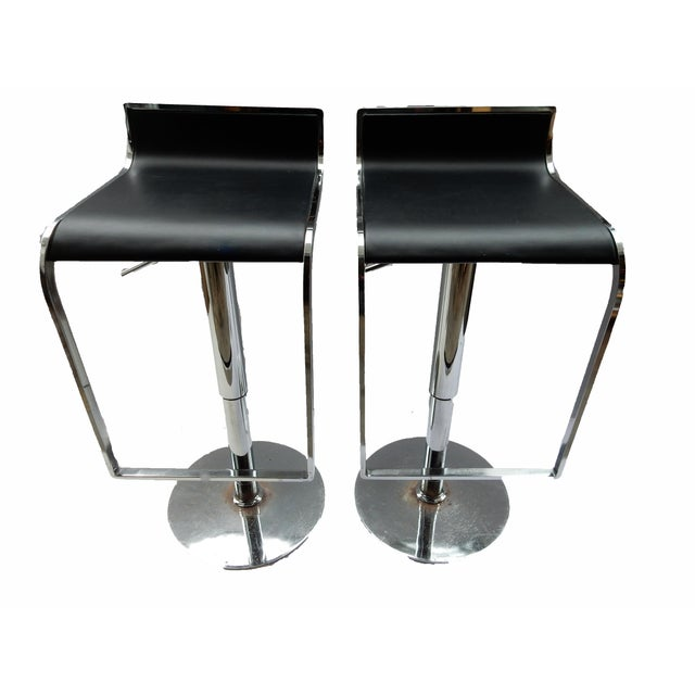 Chrome Swivel Counter Stools - A Pair - Image 1 of 6