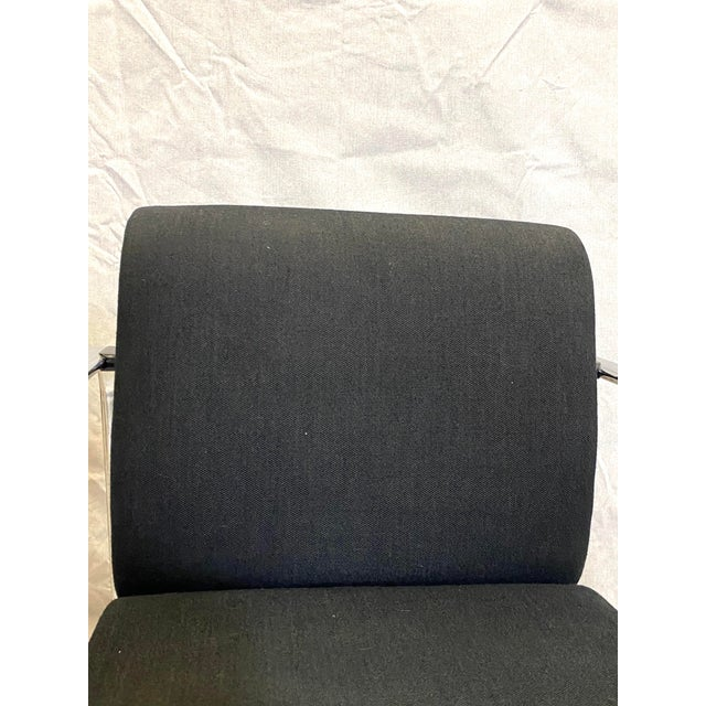Metal Marvelous Peter Protzman for Herman Miller Chrome Black Fabric Chairs - a Pair For Sale - Image 7 of 13