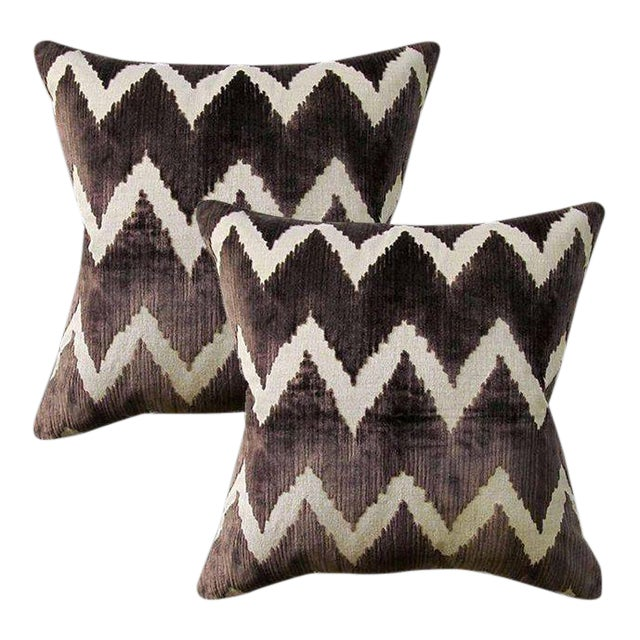 10d55d6174251 Lee Jofa Belgian Velvet Accent Pillows - Set of 2 ~ Down Feather Inserts  Included