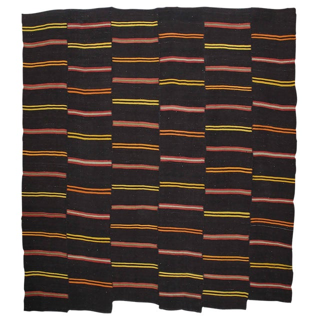 Large Kilim with Bright Stripes For Sale