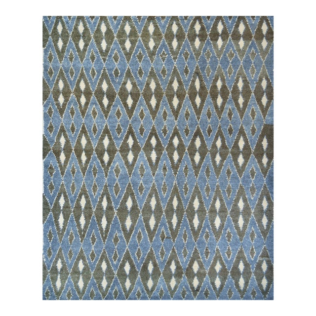 Contemporary Handwoven Turkish Wool Rug For Sale