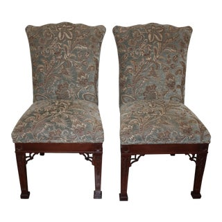 Ethan Allen Upholstered Dining Room Chairs - a Pair For Sale