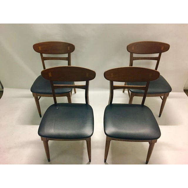 Danish Modern Mid Century Modern Danish Chairs - Set of 4 For Sale - Image 3 of 12