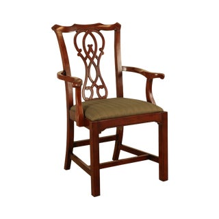 Bernhardt Chippendale Style Mahogany Armchair (B) For Sale