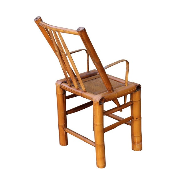 Chinese Zen Style Bamboo Reclining Arm Chair - Image 6 of 6