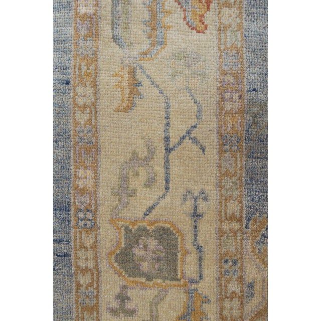 MANSOUR Mansour Turkish Oushak Wool Rug - 6′2″ × 9′6″ For Sale - Image 4 of 6