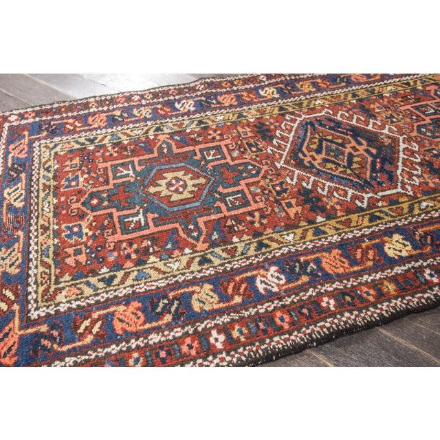 """Antique Heriz Wool Rug- 2'6"""" x 4'5"""" - Image 4 of 7"""