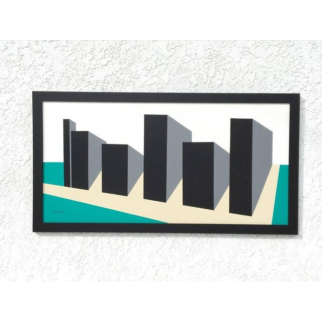 Original Enamel on Masonite Abstract Painting by Rick Orr For Sale In Palm Springs - Image 6 of 6