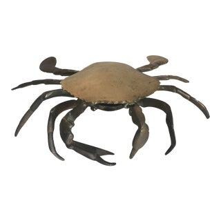 Mid Century Brass Crab For Sale