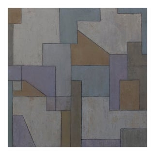 Mid-Century Modern ShapeShifter Study #3—Geometric Abstract Painting by Stephen Cimini For Sale