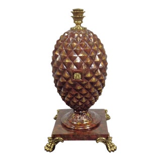 Maitland-Smith Footed Pineapple Style Decorative Box For Sale