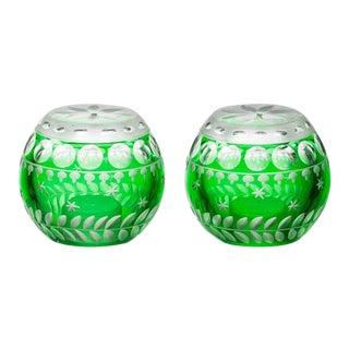 ARTEL Staro Salt and Pepper Set, Emerald - A Pair For Sale