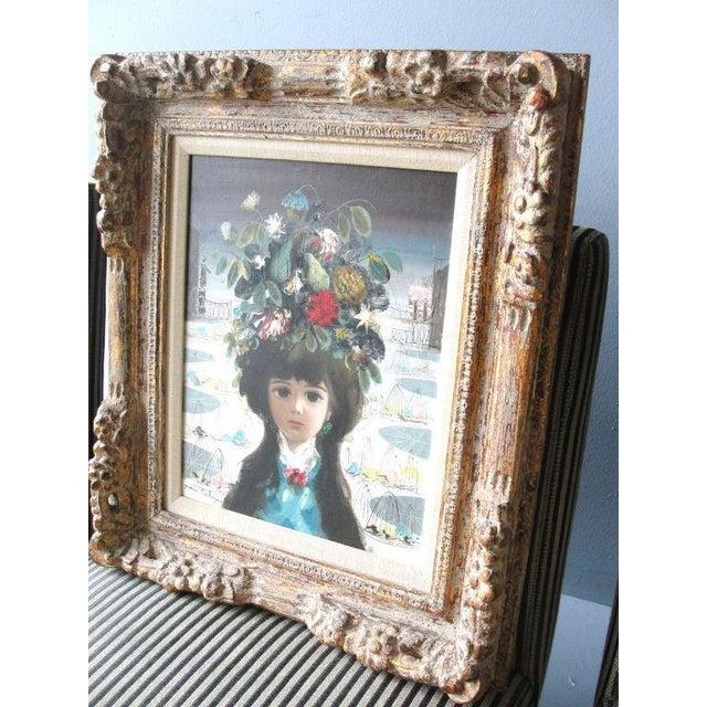 "Jean Calogero Jean Calogero Oil Painting ""Patrizia"" (Signed) For Sale - Image 4 of 9"