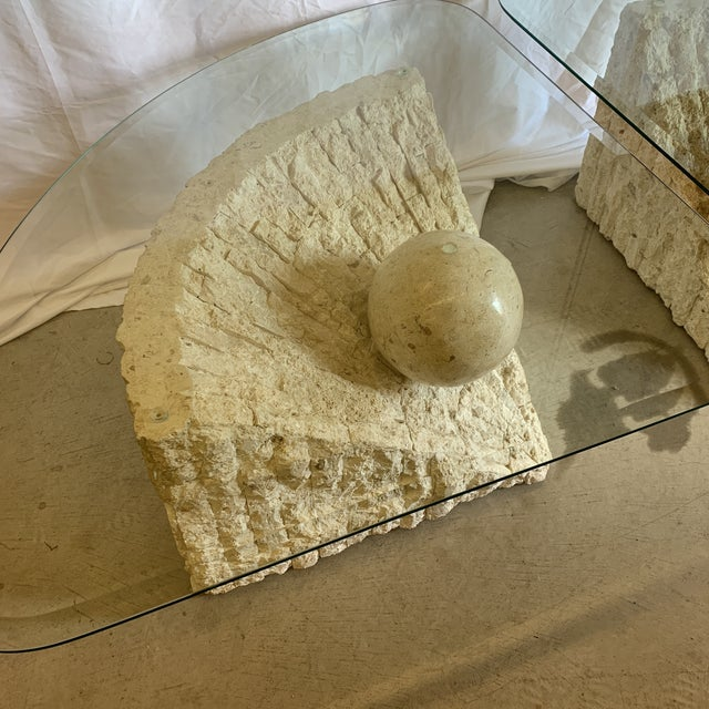 1980s Vintage Post Modern Tessellated Stone Coffee End Tables - a Pair For Sale - Image 5 of 13