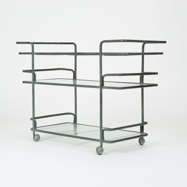 Brown Jordan Richard Frinier Bronze Bar Cart for Brown Jordan For Sale - Image 4 of 13