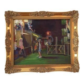 """""""Carnival Night!"""" Contemporary Figurative Oil Painting by Marina Movshina, Framed For Sale"""