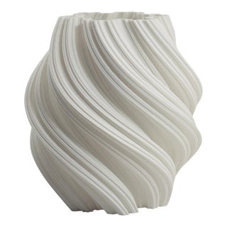 3d Printed Fractal Spiral Vase / Decorative Led Luminary , White For Sale
