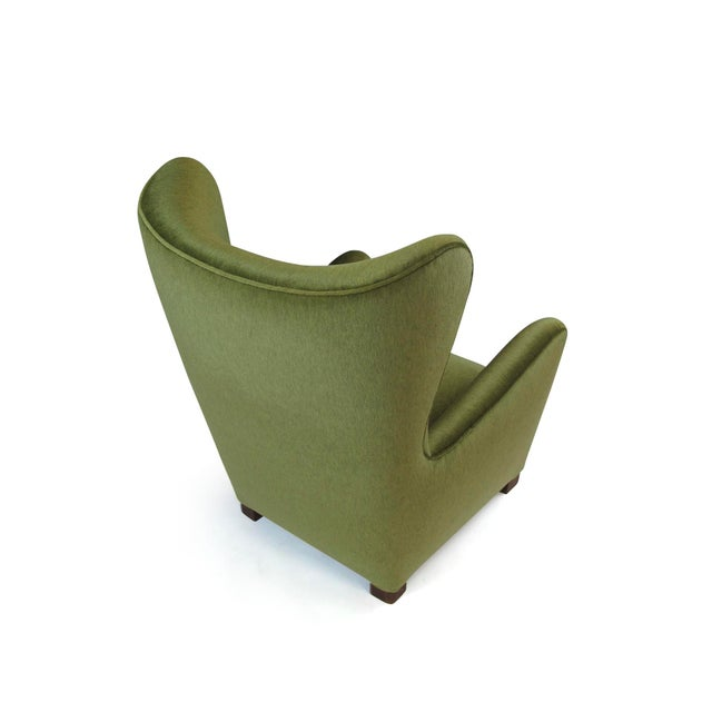 1942 Thorald Madsen for Fritz Hansen High Back Lounge Chair For Sale In San Francisco - Image 6 of 11