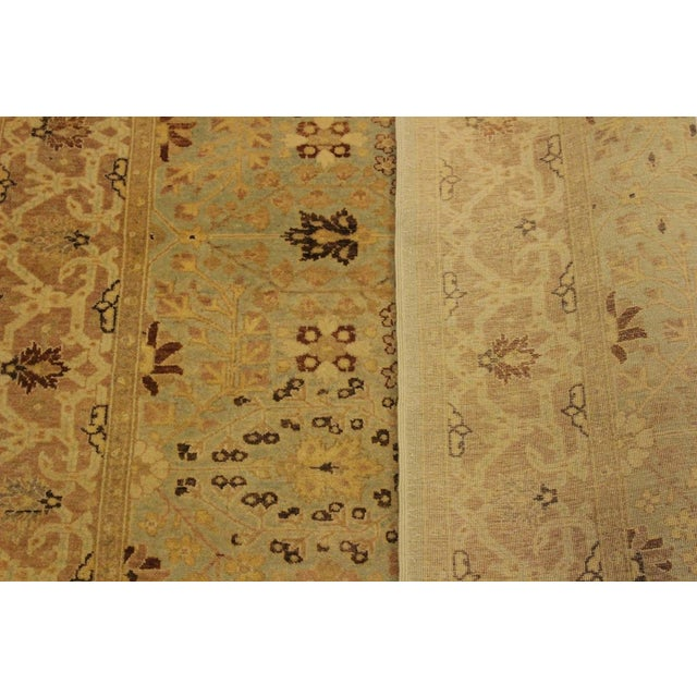 Textile Istanbul Lakh Lt. Blue/Lt. Tan Turkish Hand-Knotted Rug -4'3 X 6'1 For Sale - Image 7 of 8
