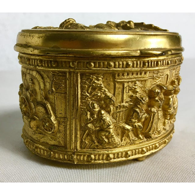 1900s French Gilded Ring Box For Sale - Image 9 of 9