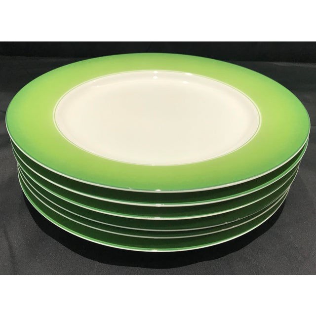 Lynn Chase Green and White Chargers - Set of 6 For Sale - Image 11 of 11