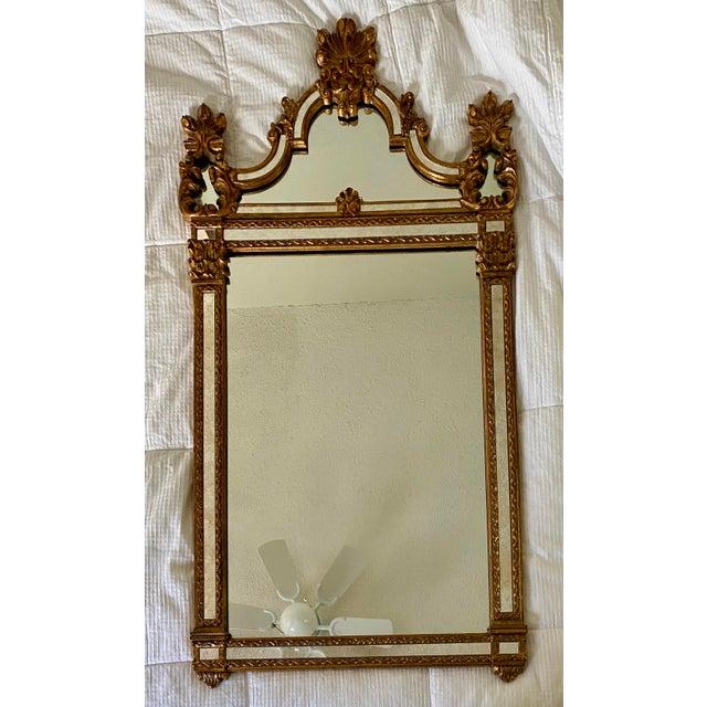 1960s Vintage Large Hollywood Regency La Barge Gold Mirror For Sale - Image 12 of 12