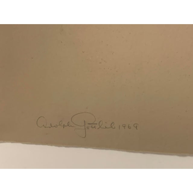 1960s 1969 Abstract Expressionist Pencil Signed Adolph Gottlieb Lithograph For Sale - Image 5 of 8