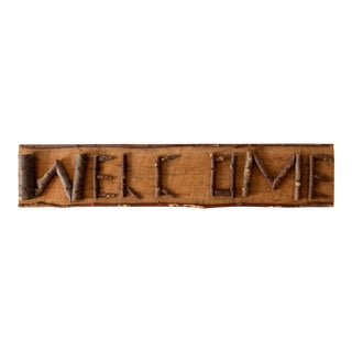 Rustic Twig Welcome Sign For Sale