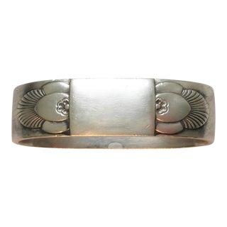 Georg Jensen Sterling Silver Napkin Ring For Sale