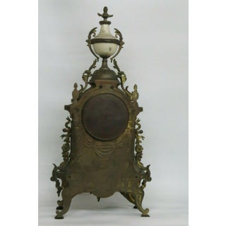 Early 1900s Antique French Bronze and Porcelain Cameo Mantel Clock Preview