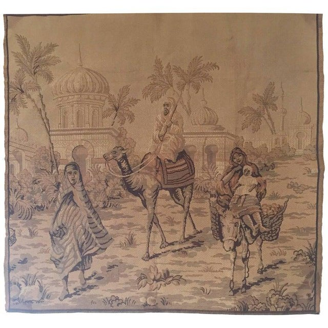 Tapestry With an 19th Century Orientalist Scene and Moorish Architecture For Sale - Image 10 of 10