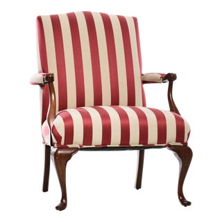 Striped Mahogany Solid Arm Chair