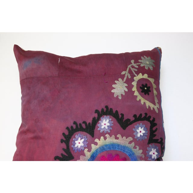 Vintage Suzani Sofa Throw Pillow Cover For Sale In Baltimore - Image 6 of 11