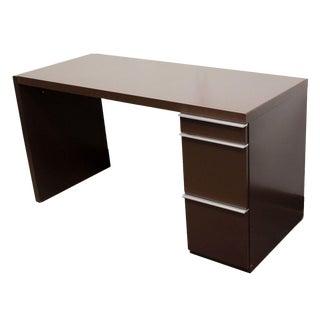 1960s Mid Century Modern Interlubke Brown Formica Desk