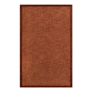 """Contemporary Momeni Delhi Hand Tufted Rust Wool Area Rug - 3'6"""" X 5'6"""" For Sale"""