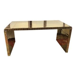 1970s Saareid Studded Brass Coffee Table For Sale