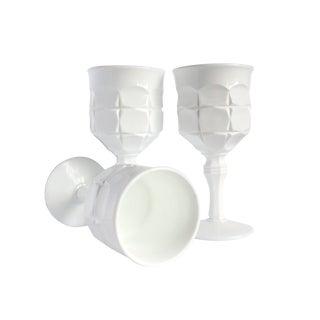 Vintage Milk White Goblets II - Pair For Sale