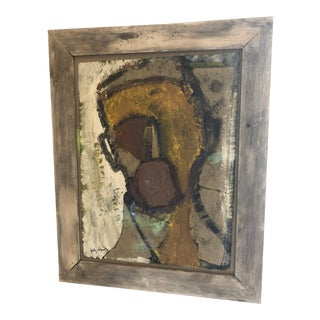 Mixed-Media Painting and Collage by Barcelona Artist For Sale