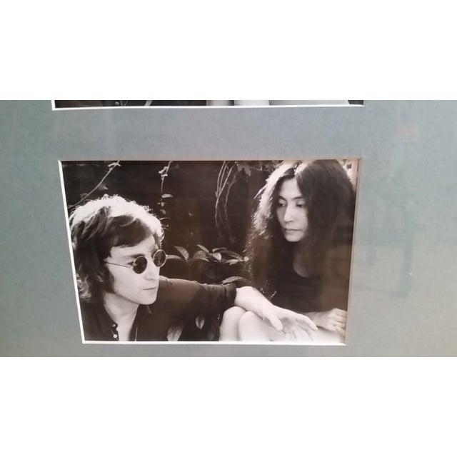 1972 Vintage John Lennon & Yoko Ono Triptych B & W Gel Photographs For Sale - Image 4 of 10