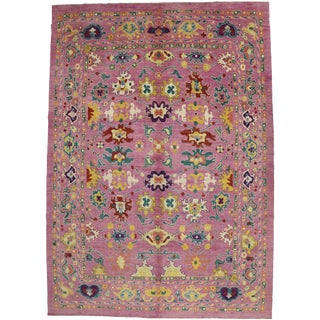 Contemporary Turkish Oushak Rug - 10′9″ × 16′10″ For Sale