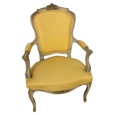 Ordinaire Louis XIV Antique Yellow Chair
