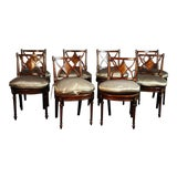 Image of Maitland Smith Mahogany Regency Style Side Chairs - Set of 8 For Sale
