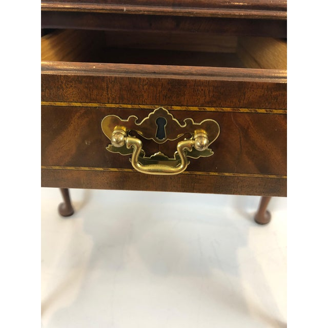 1990s Councill Furniture Flame Mahogany Lowboy For Sale In Philadelphia - Image 6 of 11