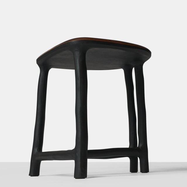 2010s Walnut Stool by Valentin Loellmann For Sale - Image 5 of 11