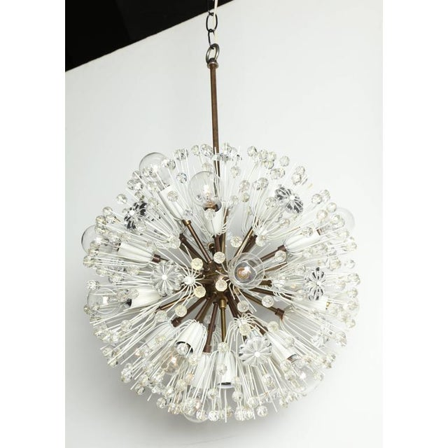 """Transparent 1950s Emil Stejnar """"Snowball"""" Brass and Hand Cut Crystal Hanging Pendant For Sale - Image 8 of 10"""